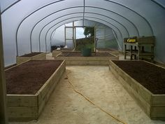 Raised Beds Layout For An 18ft Wide X 42ft Long Polytunnel Http