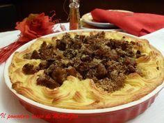 Il Pomodoro Rosso di MAntGra: Tortiera di pure' salciccia e funghi