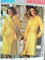 1970s DIOR Trench Coat and Midriff Dress Pattern VOGUE Paris Original 2911 Classy Timeless Designs Bust 34 Vintage Sewing Pattern FACTORY FOLDED