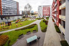 Внутренний двор, двухкомнатная квартира в аренду, Ружинов, Братислава, Словакия.