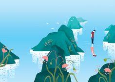 Novel cover illustration on Behance