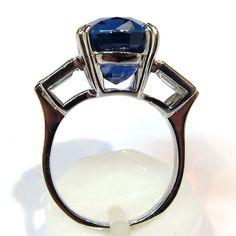 Bague saphir diamants 715 - Bijoux précieux d'occasion Paris