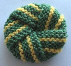 A perfect little project for those pesky scraps of acrylic yarn.