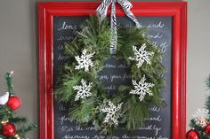 this is what i want for my chalkboard menu - need framed mirror or just frame
