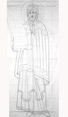 Mural Painting, Christian Art, Byzantine, Line Drawing, Fresco, Icon Design, Stencils, Workshop, Drawings