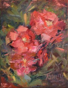 """""""Jessie's Roses"""", oil, plein air"""