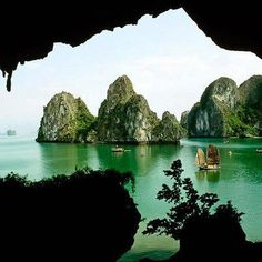 Halong Bay, Vietnam. A really magical place for a cruise.