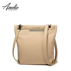 AMELIE GALANTI casual crossbody bag falp pu messenger bags metal decoration women solid zipper soft versatile new shoulder bags