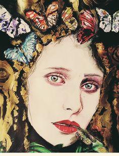 Acrylic portrait by Paola Petrucci