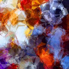 Abstract Background Orange And Blue