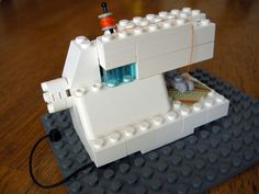 Lego sewing machine (it doesn't really work) but it's really cool looking!