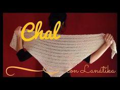 CHAL TRIANGULAR fácil (tricot / dos agujas rectas) - YouTube Crochet Poncho, Knitted Shawls, Diy Crochet, Hooded Cowl, Summer Scarves, Crochet Videos, Diy Tutorial, Free Pattern, Knitting Patterns