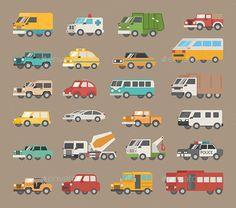 Set of Car Icons