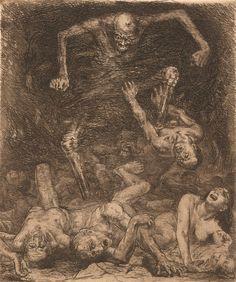 jeudi 10 novembre 2016 Art Macabre, La Danse Macabre, Art Noir, Contemporary Poetry, Medieval Paintings, Dance Of Death, Bruno, Dark Art Drawings, Post Impressionism
