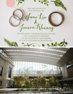 Juewon + Jane: Cleveland Museum of Art Wedding Ohio #clevelandmuseumofart #clevelandart #wedding #venue