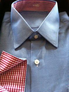 J. Hilburn shirt with contrast collar & cuffs www.catherinekeers.jhilburn.com http://www.myseattlestylist.com/mens