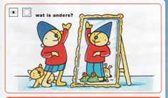 Wat is anders? Pre School, Disney Characters, Fictional Characters, Comics, Kids, Spelling, Advent, Teaching, Art