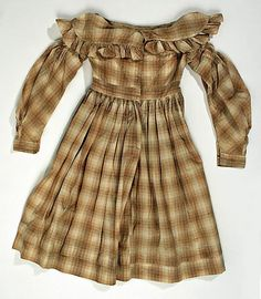 antique children's clothing | Cotton and linen, American, ca. 1839. The Met, accession nr. C.I.55.51 ...