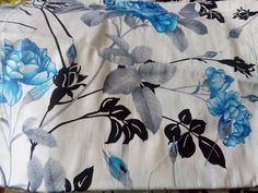 white / Black / Blue Glaze Cotton Print double Bedsheet from Urban Buy