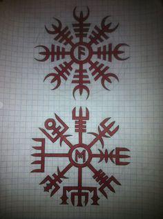 Helm Of Awe Tattoo, Rune Tattoo, Glyph Tattoo, Norse Tattoo, Celtic Tattoos, Viking Tattoos, Druid Symbols, Norse Runes, Viking Symbols