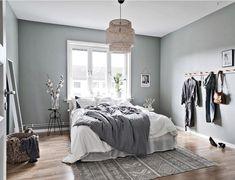 36 Stunning Modern Scandinavian Bedroom Design And Decor Ideas - Popy Home Scandinavian Bedroom Decor, Scandinavian Apartment, Home Decor Bedroom, Bedroom Furniture, Bedroom Ideas, Scandinavian Design, Bedroom Inspiration, Bedroom Designs, Cheap Furniture