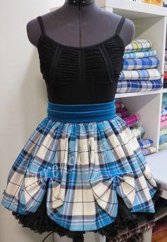 Dress Turquoise McKellar...tartan supplied by Highland In Style