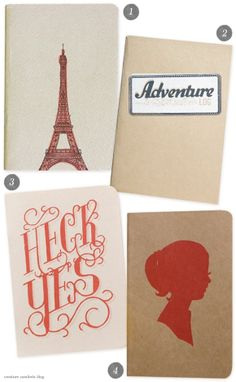 Today I Love: Handmade Journals - Home - Creature Comforts - daily inspiration, style, diy projects + freebies