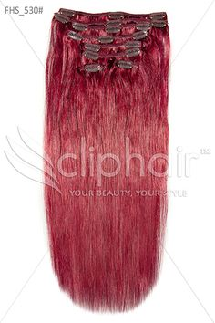 Get that look cherry red extensions 530 human hair extensions 20 inch full head remy clip in human hair extensions plumcherry red pmusecretfo Image collections