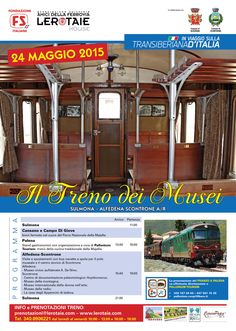 Nuovo appuntamento da non perdere sulla #transiberianaditalia. Domenica 24 maggio 2015 il Treno dei Musei, da Sulmona ad Alfedena-Scontrone.