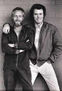 Paul Newman y Clint Eastwood <3