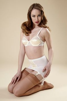 PinUp Wedding White Girdle Garter Skirt Lace by dottiesdelights, $125.00