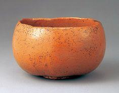 「赤樂茶碗 銘熟柿」本阿弥光悦/樂焼   江戸時代 17世紀前半 サントリー美術館