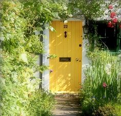 Beautiful and Bright yellow door
