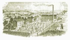 Historic sketch of textile rope making at Higher Flax Mills