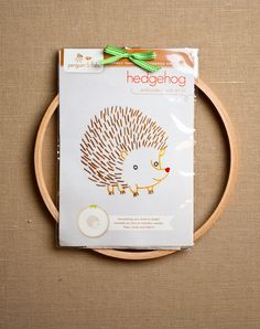 Animal Embroidery Kits from Penguin & Fish: These adorable kits feature Alyssa Thomas' super cute animal designs, from a shy hedgehog to a gleeful monkey. Perfect for onesies, t-shirts, pillowcases, and wall art!  Each kit includes embroidery needle, embroidery floss, cotton muslin fabric, one 8-inch embroidery hoop, stitch and color guide, easy to trace black and white pattern, black and white pattern in reverse for an iron-on transfer pen or pencil, and simple embroidery instructions…