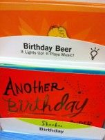 """Happy """"Beer""""thday to you!  Greeting card makers have been outdoing themselves lately...."""