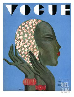 Vogue Cover - March 1931 Regular Giclee Print by Eduardo Garcia Benito at Art.com