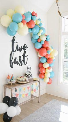 2nd Birthday Party For Boys, Second Birthday Ideas, Kids Birthday Themes, Birthday Party Decorations, Baby Boy First Birthday, Birthday Kids, Happy 2nd Birthday, Balloon Decorations Party, Decoration Table
