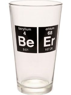 Periodic BeEr 16oz Pint Beer Glass ❤ Garden-Outdoor