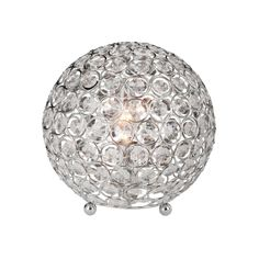All The Rages Inc Elegant Designs Crystal Ball Table Lamp - ALTLT1026CHR