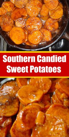 Southern Candied Sweet Potatoes – What To Cook For Dinner Sweet Potato Dishes, Sweet Potato Recipes, Candied Sweet Potatoes, Mashed Sweet Potatoes, Vegetable Side Dishes, Vegetable Recipes, Southern Cooking Recipes, Side Dish Recipes, Thanksgiving Recipes