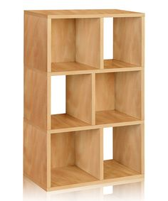 Look at this Natural Laguna Bookcase on #zulily today!