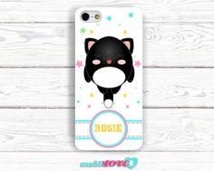 Yukai Neko Black Kawaii Happy Cat  Hard Case for by MobiLove, £10.00