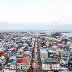 Halló from Reykjavík! It feels so good to touch down in my 44th country! Ok actually it's FREEZING but I'm enamored with Iceland! The people are so nice and the nature is breathtaking. And look at this city! The buildings look like little frost-covered colorful dollhouses. It was so windy at the top of the Hallgrimskirkja cathedral that this view literally took my breath away!