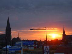 Sun-up in Harlingen Nederland