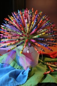 """Super idea for marker """"tid dyed"""" T-shirts for birthday party activity"""