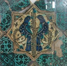 Tile mosaics from the Kubad Abad Palace, built between The palace was built for Kayqubad I, a Seljuk Sultan of Rûm. Romanesque Architecture, Cultural Architecture, Architecture Art, Residential Architecture, Tile Art, Mosaic Tiles, Tiling, Bird Stand, Ancient Persian