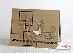 Stampin' up! ... handmade  card: Butterfly Basics for Stamping and Blogging, card by Sandi @ www.stampingwithsandi.com ... kraft ... mod collage styling ... luv it!