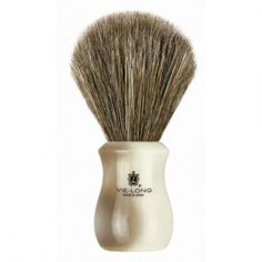Brown horse hair with acrylic ivory & brown handle. An excellent combination of firm hair & soft tips. Shaving Brush, Wet Shaving, Brown Horse, Horse Hair, Ivory, Horses, Metal, Brushes, Handle