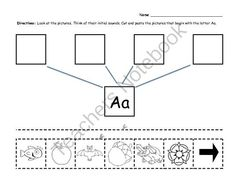 Initial sounds letters A-M from Reading and Math Shop by Eva Arguello on TeachersNotebook.com -  (13 pages)  - Initial sounds worksheets, letters A-M